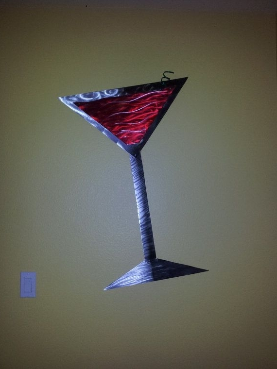 Martini Glass Metal Wall Art (View 15 of 15)