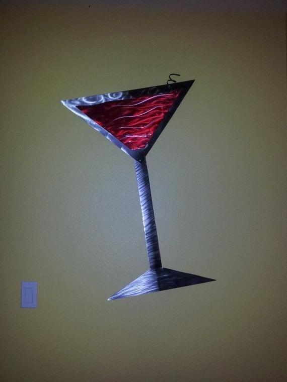 Martini Glass Metal Wall Art (View 6 of 15)