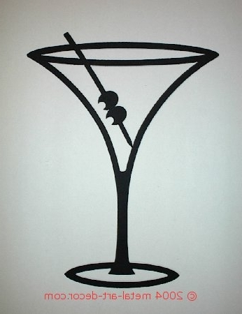 Featured Photo of Martini Glass Wall Art