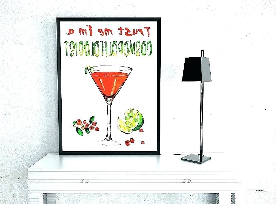 Martini Metal Wall Art Pertaining To Popular Martini Wall Art Martini Glass Wall Art Full Size Of Martini Glass (View 14 of 15)