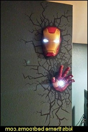 Marvel 3D Wall Nightlight – Iron Man Mask (View 13 of 15)