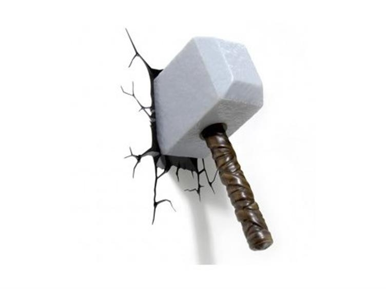 Marvel Comics 3D Led Wall Decal - Thor Hammer with Best and Newest Thor Hammer 3D Wall Art