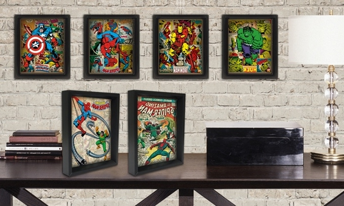 Marvel Comics Framed 3D Posters (View 10 of 15)