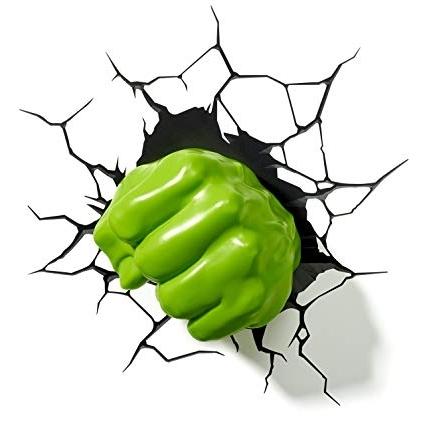 Marvel Hulk Fist 3D Wall Light: Amazon (View 5 of 15)