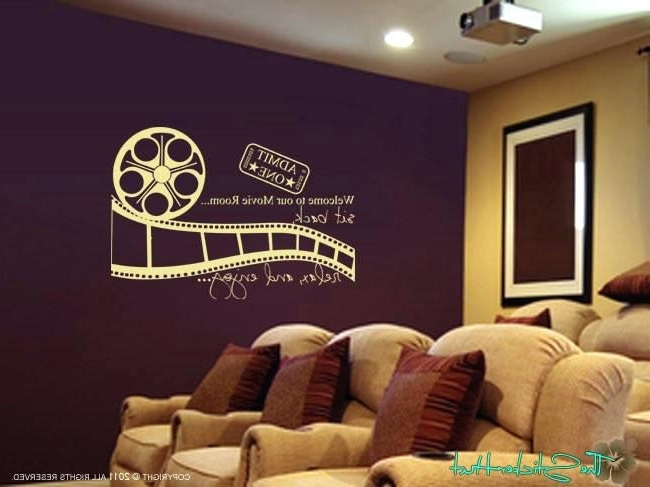 Media Room Wall Art With Preferred Theatre Wall Art Theater Room Wall Art Home Theater Decor Wall Art (View 13 of 15)