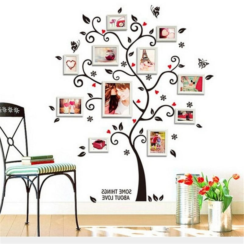 Memory Family Tree Diy Wall Art Home Decor Stickers For Living Room Throughout Most Up To Date 3D Removable Butterfly Wall Art Stickers (View 13 of 15)