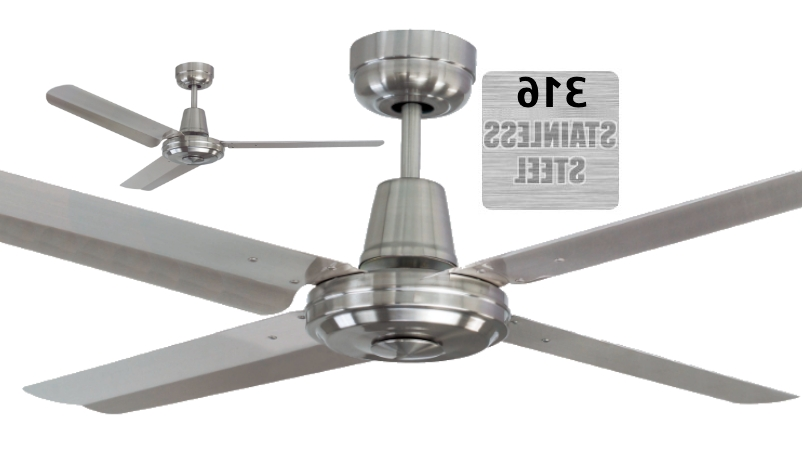 Mercator Swift 316 Marine Grade Stainless Steel Coastal Outdoor Within Most Recent High End Outdoor Ceiling Fans (View 8 of 15)