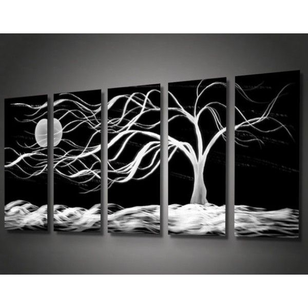 Metal Abstract Wall Art Pertaining To Trendy Metal Abstract Wall Art Decor – Midnight Tree Wind (View 9 of 15)