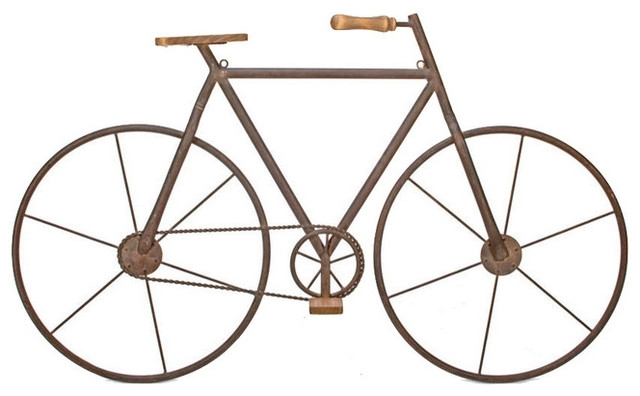 Metal And Wood Bicycle Wall Art – Rustic – Wall Accents  Tripar For Famous Metal Bicycle Wall Art (View 3 of 15)