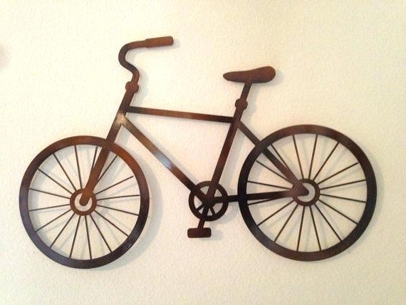 Metal Bicycle Wall Art Pertaining To Well Liked Bicycle Wall Art Decor Fhing Metal Scholarly Me Peaceful Harmonious (View 3 of 15)