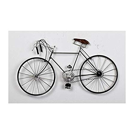 Metal Bicycle Wall Art With Regard To Most Popular Bicycle Wall Art Metal – L – 60 Cm X H 33 Cm: Amazon.co (View 6 of 15)