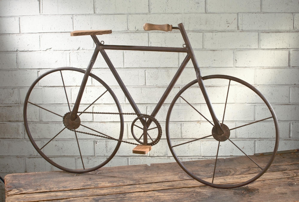 Metal Bicycle Wall Art Within Widely Used Metal/wood Bicycle Wall Art – Tripar International, Inc (View 8 of 15)