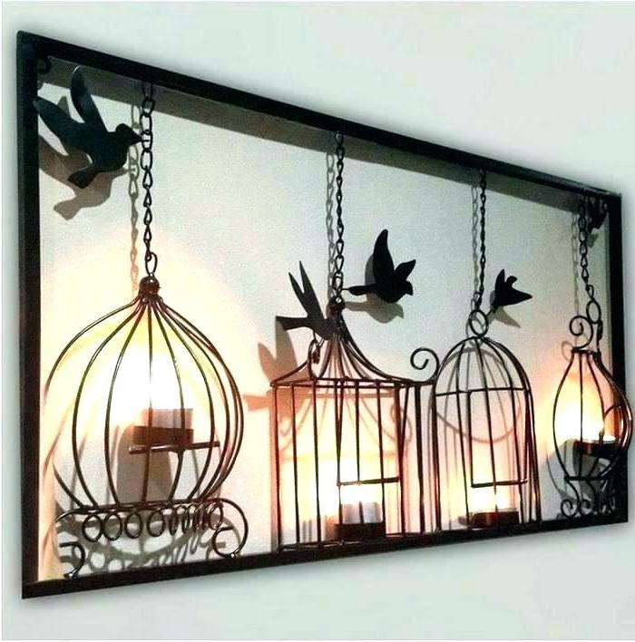 Metal Birdcage Wall Art In Trendy Luxury Metal Wall Art Panels Metal Wall Art Decor Birdcage Wall Art (View 4 of 15)