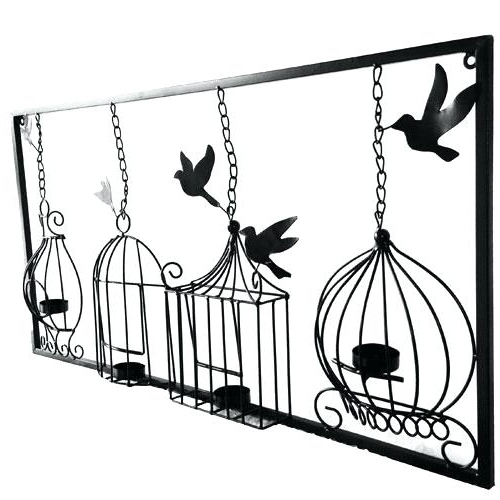 Metal Birdcage Wall Art Inside Most Recently Released Birdcage Wall Art Birdcage Tea Light Wall Art Metal Wall Hanging (View 7 of 15)