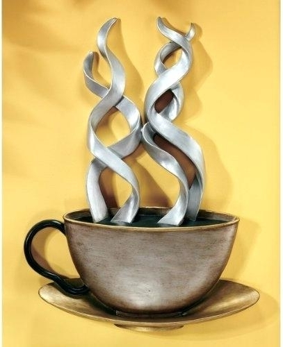 Metal Coffee Cup Wall Art 3D Metal Coffee Cup Wall Art – Dannyjbixby Within Most Up To Date Metal Coffee Cup Wall Art (View 3 of 15)