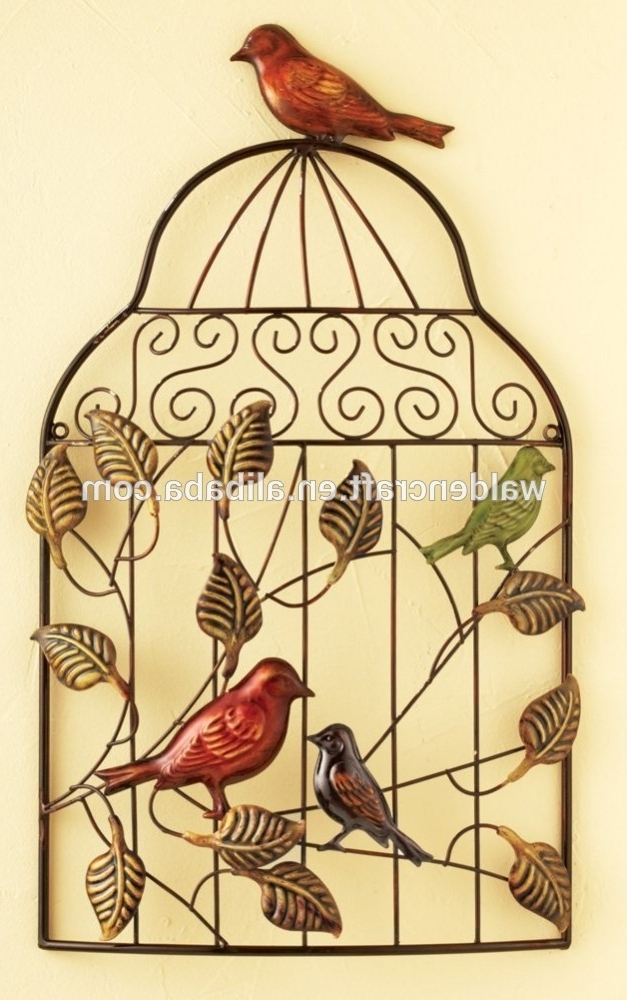 Metal Crafts Hang Wall Art Christmas Birdcage For Decoration – Buy Regarding Current Metal Birdcage Wall Art (View 15 of 15)
