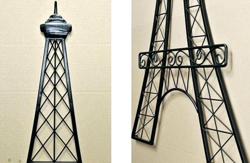 Metal Eiffel Tower Wall Art Tower Wall Art Tower Wall Decor Metal In Trendy Metal Eiffel Tower Wall Art (View 9 of 15)