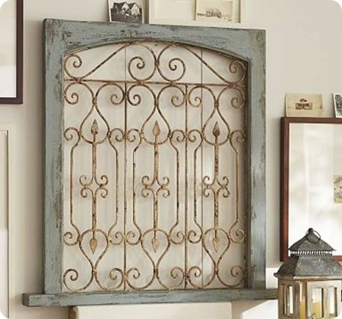 Metal Gate Wall Art Intended For Widely Used Don't Fence Me In: Creative Uses For Old Salvaged Fencing (View 6 of 15)