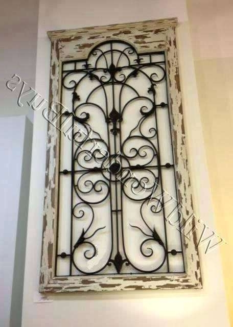 Metal Gate Wall Art Pertaining To Best And Newest Gate Wall Decor Arched Vintage Gate Wall Art – Ambitionsof (View 7 of 15)