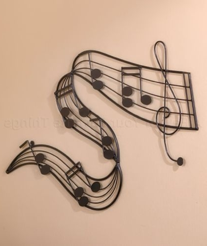 Metal Music Notes Wall Art Pertaining To Most Up To Date 1) Metal Musical Notes Wall Art Music Room Band Musician Home (View 6 of 15)
