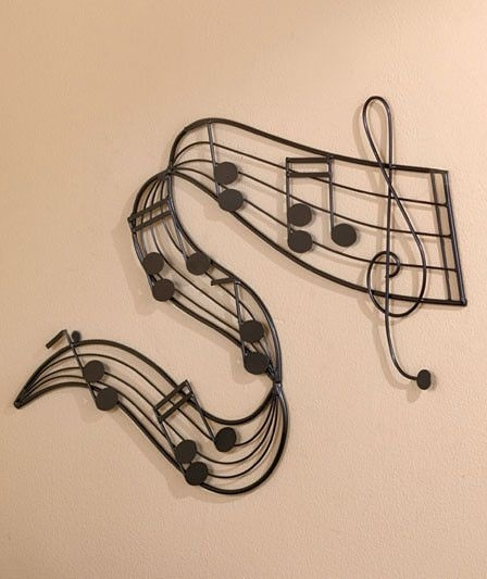 """Metal Note Bar Music Wall Art For Music Lovers Home Decor 26 3/4"""" X In Recent Metal Music Wall Art (View 6 of 15)"""