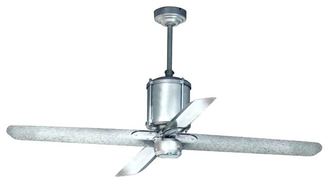 Metal Outdoor Ceiling Fans With Light Pertaining To 2018 Fanimation Escalade Ceiling Fan Fp2320Gz In Galvanized Galvanized (View 4 of 15)