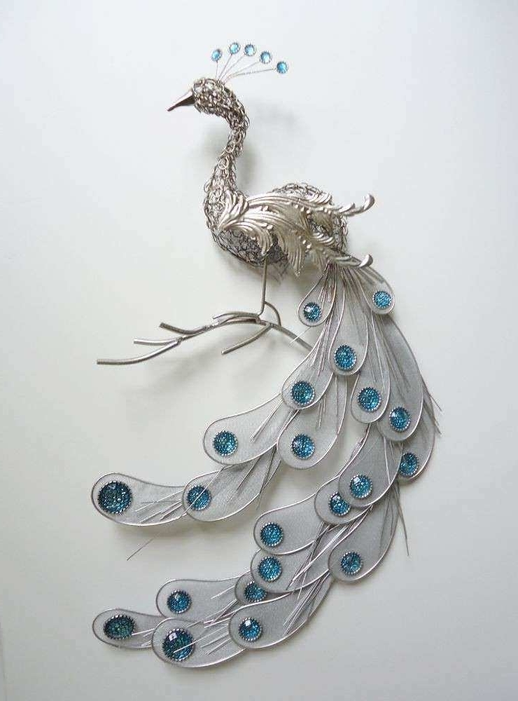 Metal Peacock Wall Art For Well Known Metal Bird Wall Decor Fresh Fanciful Silver Peacock Wall Art Decor (View 6 of 15)
