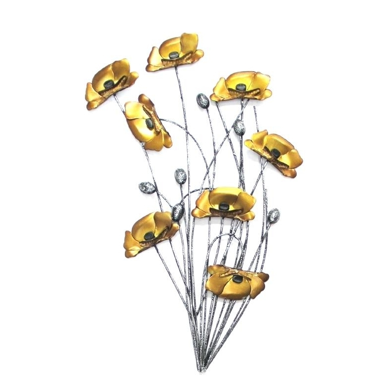 Metal Poppy Wall Art Intended For Fashionable Metal Poppy Wall Art Poppy Metal Wall Art Uk – Dannyjbixby (View 5 of 15)