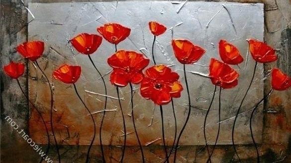 Metal Poppy Wall Art Pleasant Design Ideas Poppies Wall Art Metal Within Newest Metal Poppy Wall Art (View 15 of 15)