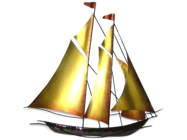 Metal Sailboat Wall Art For Famous Sail Boat Wall Decor Sailboat Metal Wall Art Wood Sailboat Wall (View 4 of 15)