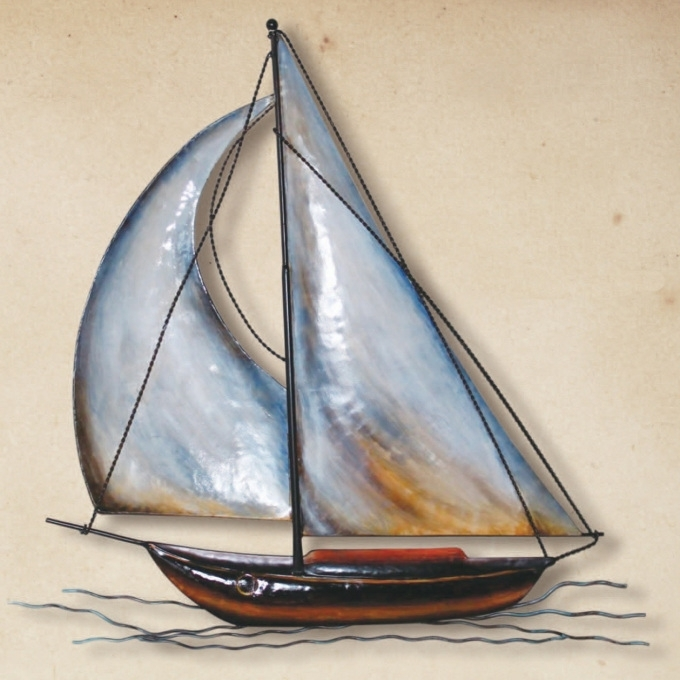 Metal Sailboat Wall Art For Well Known 11 Sailboat Wall Art, Nautical Sailboats : Metal And Wooden Wall (View 6 of 15)
