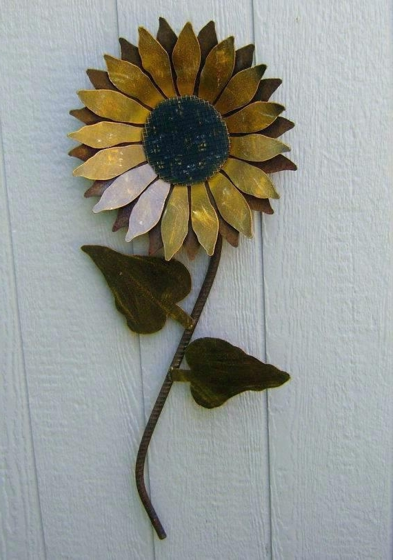 Metal Sunflower Yard Art In Most Recent Metal Sunflower Yard Art – Quillink (View 4 of 15)