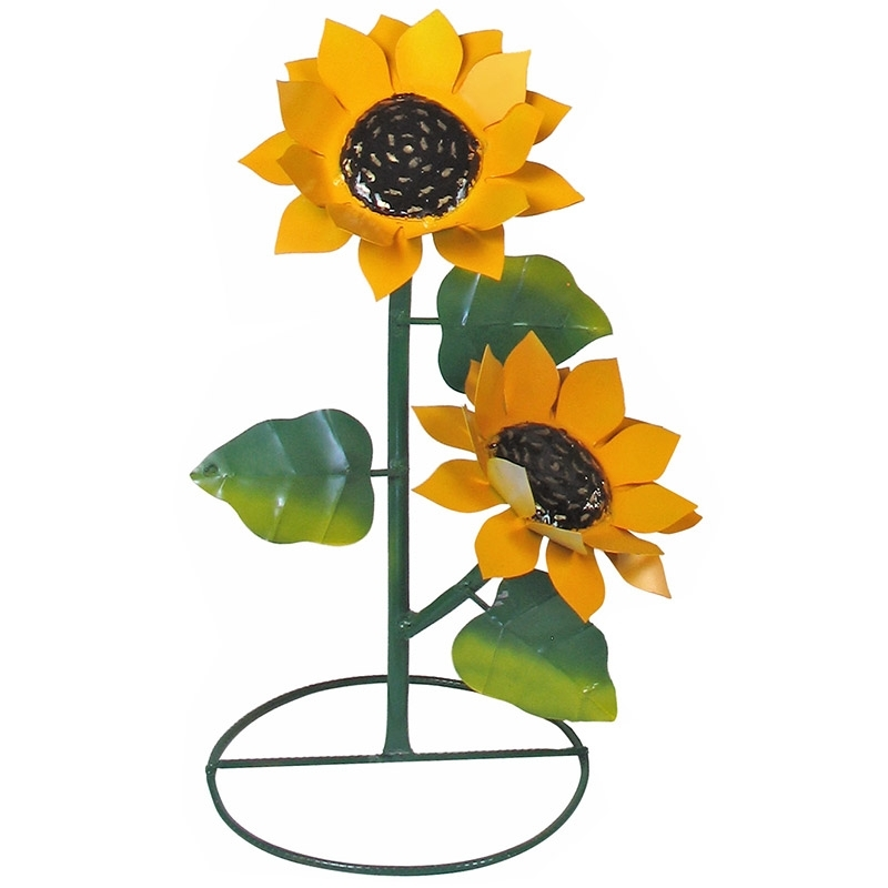 Featured Photo of Metal Sunflower Yard Art