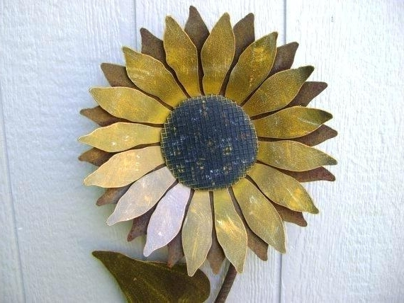 Metal Sunflower Yard Art With Regard To Widely Used Sunflower Metal Art Large Metal Flowers Yard Art Large Metal (View 7 of 15)