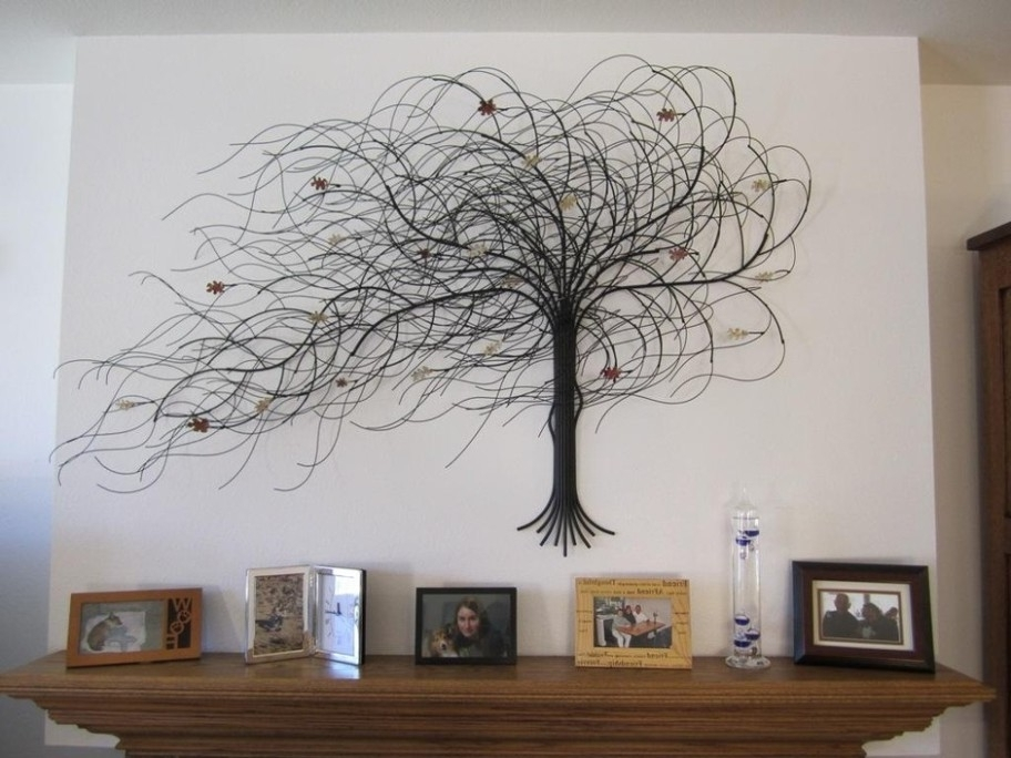 Metal Tree Wall Art Sculpture Intended For Famous Metal Sculpture Wall Art Modern Abstract Silver Metal Wall Art (View 4 of 15)