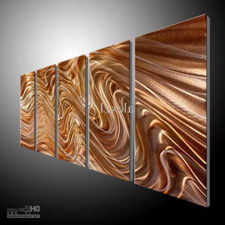 Metal Wall Art Abstract Contemporary Sculpture Home Decor Modern Inside Latest Large Abstract Metal Wall Art (View 10 of 15)
