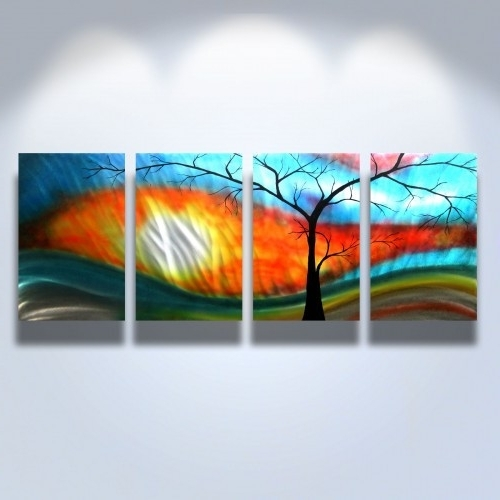 Metal Wall Art Abstract Modern Sculpture Zen Nature Shadow Tree Pertaining To Favorite Abstract Nature Wall Art (View 4 of 15)