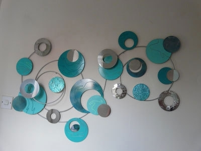 Metal Wall Art Eclipse 02 – The Sculpture Room With Preferred Duck Egg Blue Wall Art (View 13 of 15)