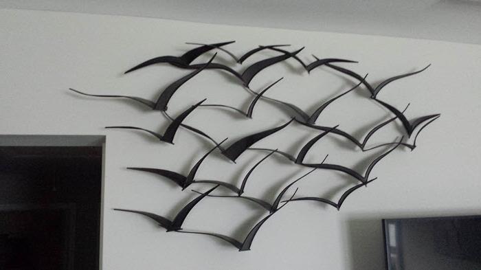 Metal Wall Art Flock Of Birds M Wall Decal, Metal Bird Wall Art Throughout Well Known Flock Of Birds Wall Art (View 2 of 15)