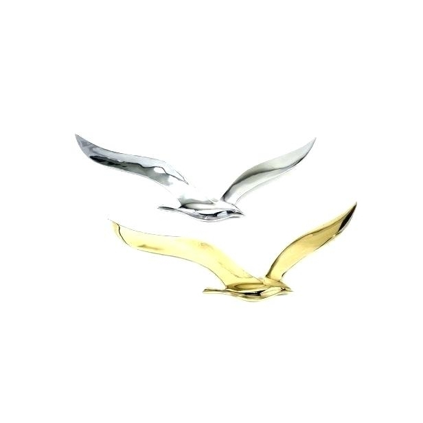 Metal Wall Art Flock Of Seagulls Inside Latest Seagull Metal Wall Art Seagull Wall Art Flying Birds Metal Decor (View 13 of 15)