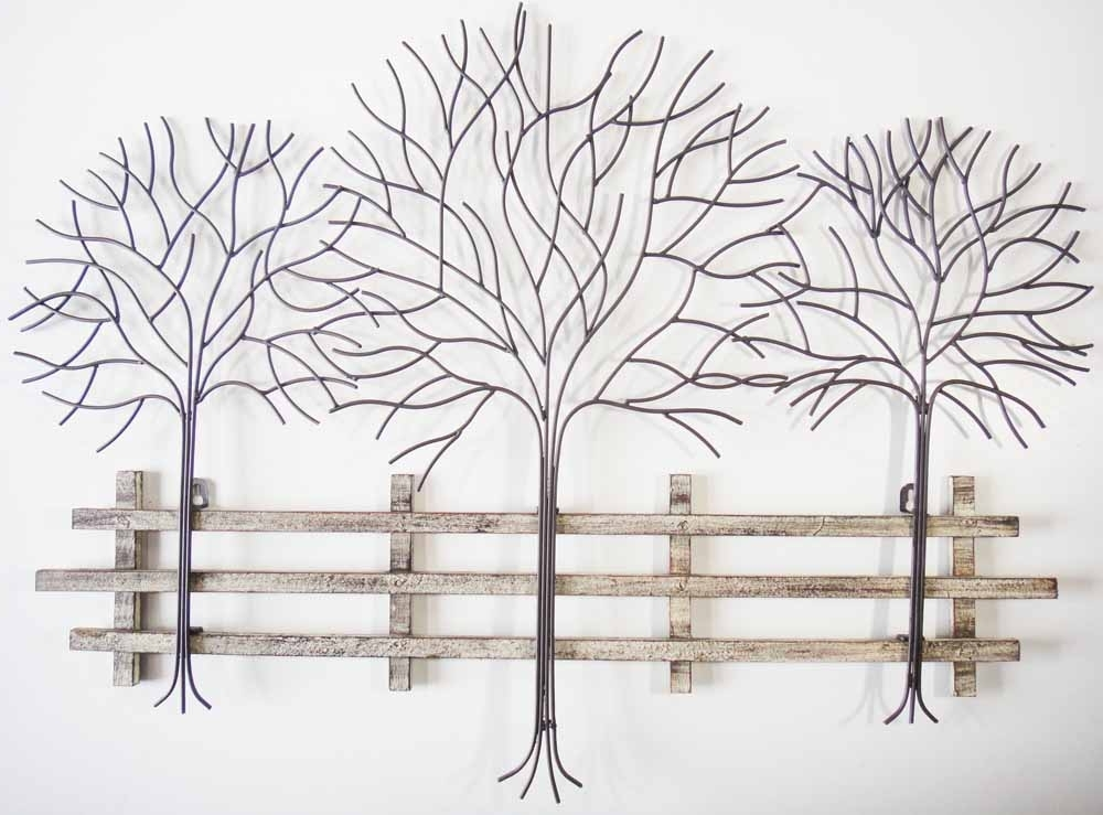 Metal Wall Art For Modern Home Inoutinterior, Tree Wall Decor Metal inside Latest Metal Wall Art Trees And Branches