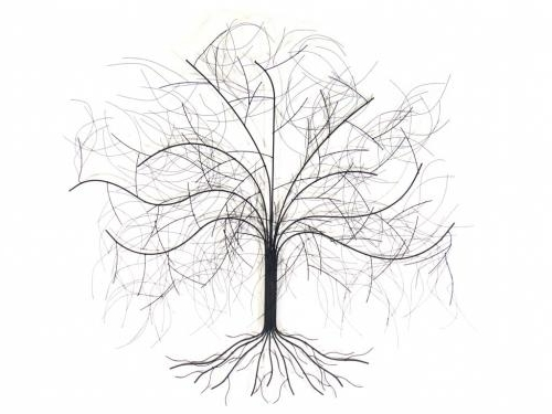 Metal Wall Art – Large Oak Tree For Most Popular Oak Tree Wall Art (View 10 of 15)