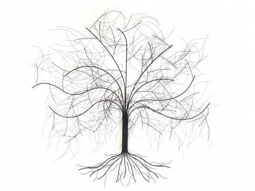 Metal Wall Art – Large Oak Tree For Most Popular Oak Tree Wall Art (View 4 of 15)