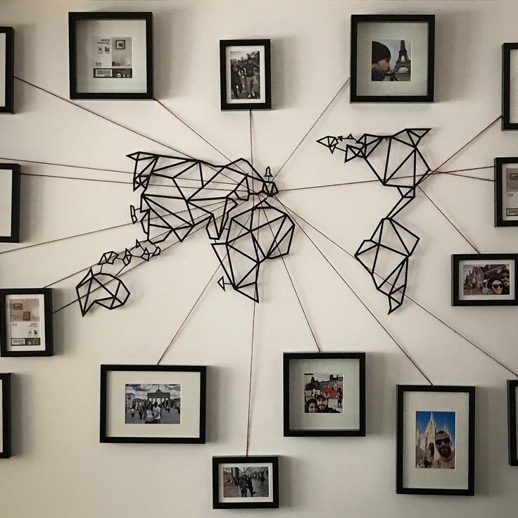 Metal Wall Art, Metal Pertaining To Famous Maps For Wall Art (View 5 of 15)