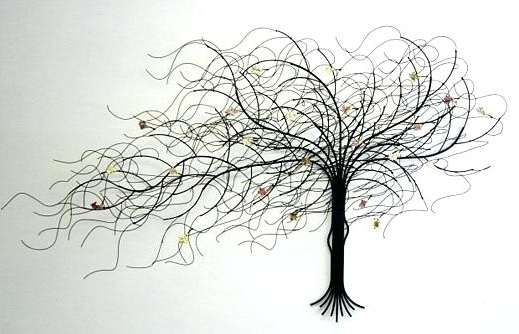 Metal Wall Art Trees And Branches On Tree Wall Art Metal Sculpture Inside Most Popular Metal Wall Art Trees And Branches (View 8 of 15)