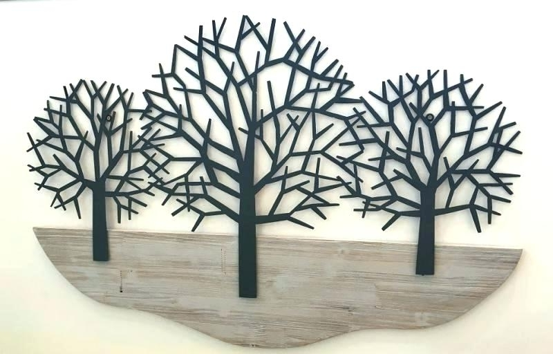 Metal Wall Art Trees And Branches Regarding Fashionable Wooden Tree Wall Art Tree Sculpture Wall Art Wooden Tree Wall Art (View 9 of 15)