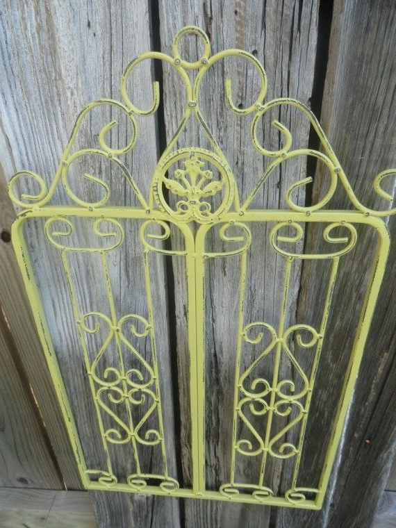 Metal Wall Decor/small Metal Garden Gate/wall Hanging Gate/shabby Inside Most Current Metal Gate Wall Art (View 13 of 15)