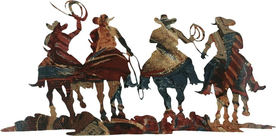 Metal Western Wall Art Cowboy Wall Art Cowboys And Pack Horses Metal With 2018 Western Metal Wall Art Silhouettes (View 4 of 15)
