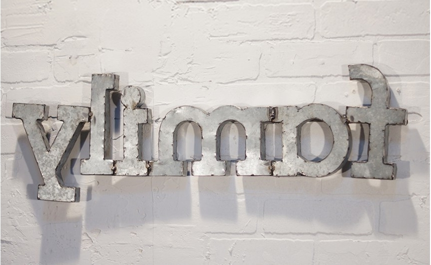 Metal Word Wall Art, Family Wall Art, Metal Family Display, Word Intended For Widely Used Metal Word Wall Art (View 14 of 15)