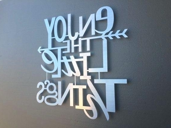 Metal Words Wall Decor Metal Words Wall Decor Fascinating Hanging Pertaining To Best And Newest Metal Word Wall Art (View 6 of 15)